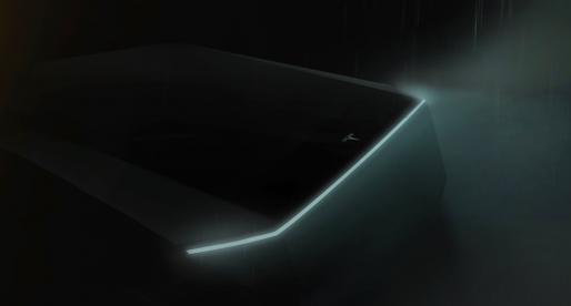 Elon Musk ukázal první fotografii dalšího modelu Tesly. Jde o futuristickou podobu pickupu