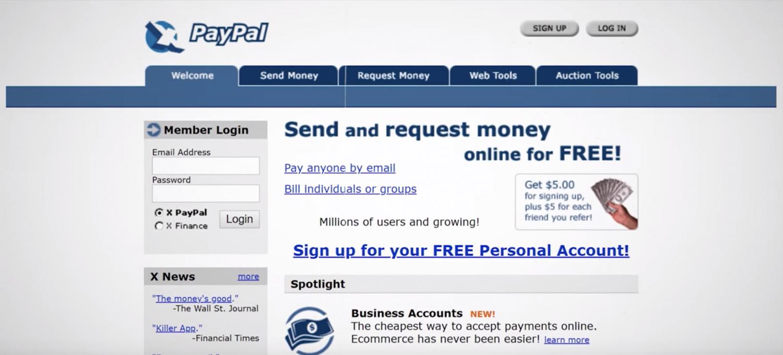 PayPal v době, kdy se z něj snažil Musk znovu udělat X.com