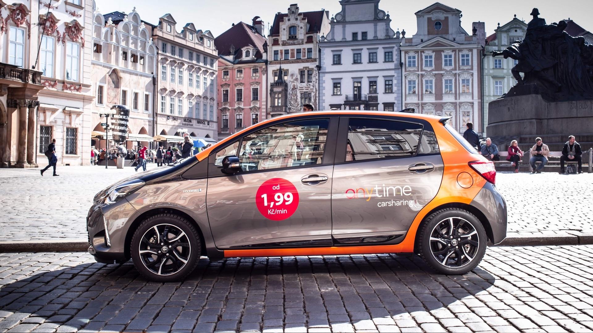 Carsharing Anytime do Prahy přiveze hybridní Toyoty