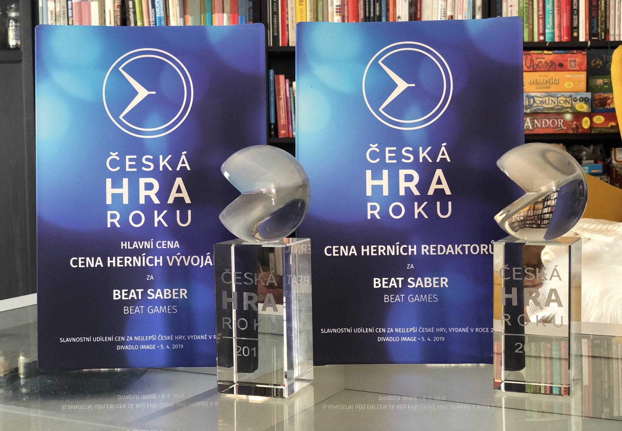 Dvě ocenění pro Beat Saber (Beat Games) v anketě Česká hra roku za rok 2018