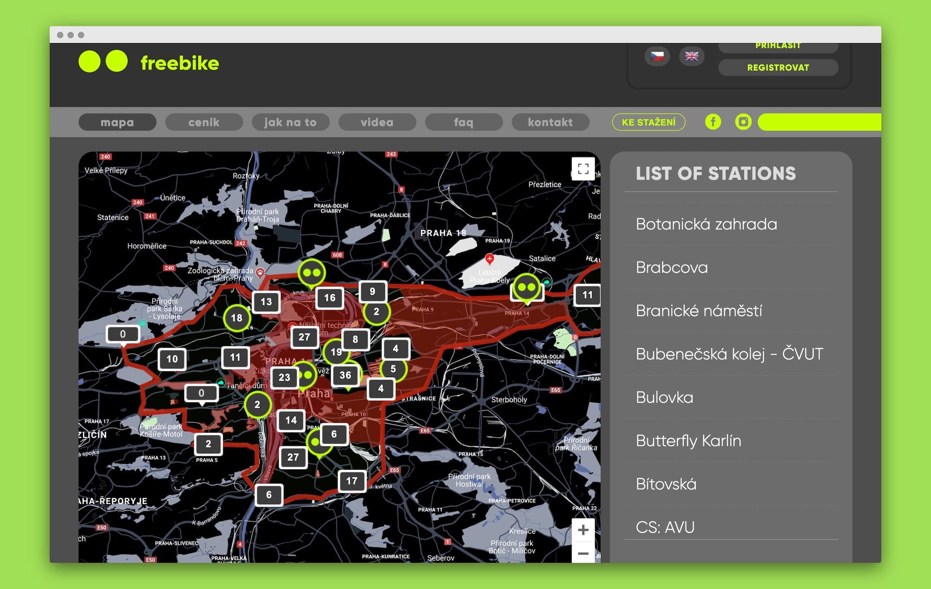 Freebika začíná fungovat na Praze 1 až 8 a v Horních Počernicích