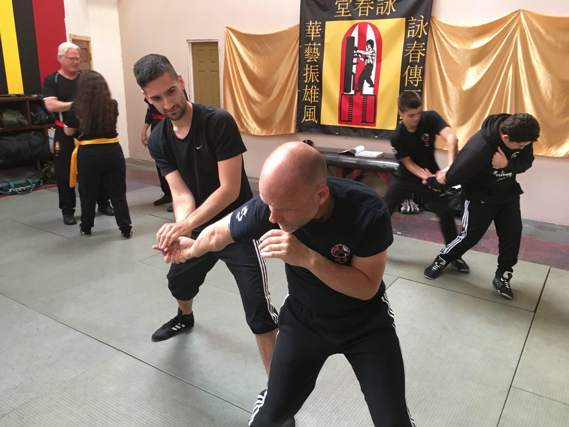 Pavel Kacerle při tréninku Wing Chun Kung-Fu s Ericem Oramem