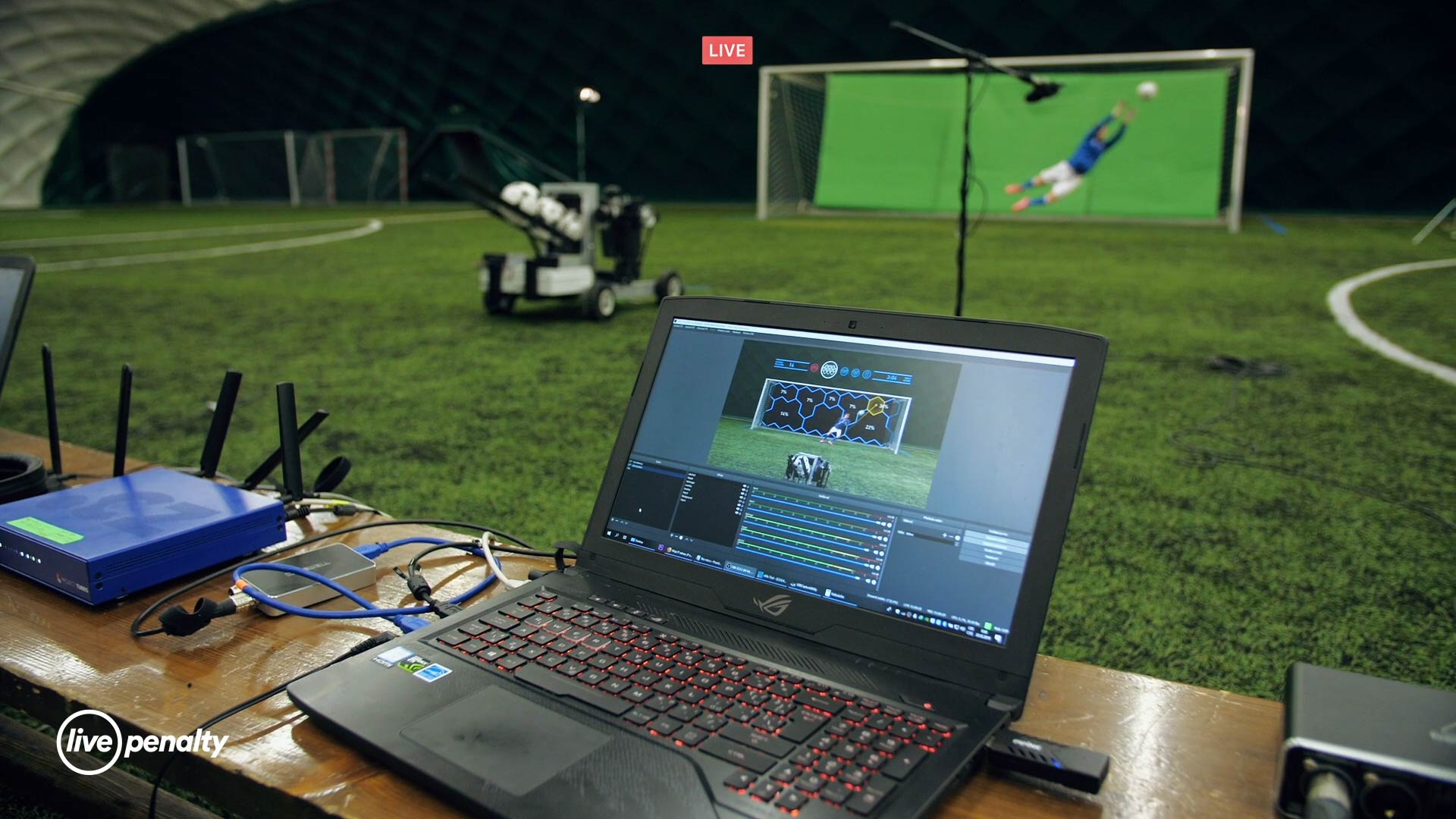 Pohled na tvorbu eliminační fotbalové hry Live Penalty