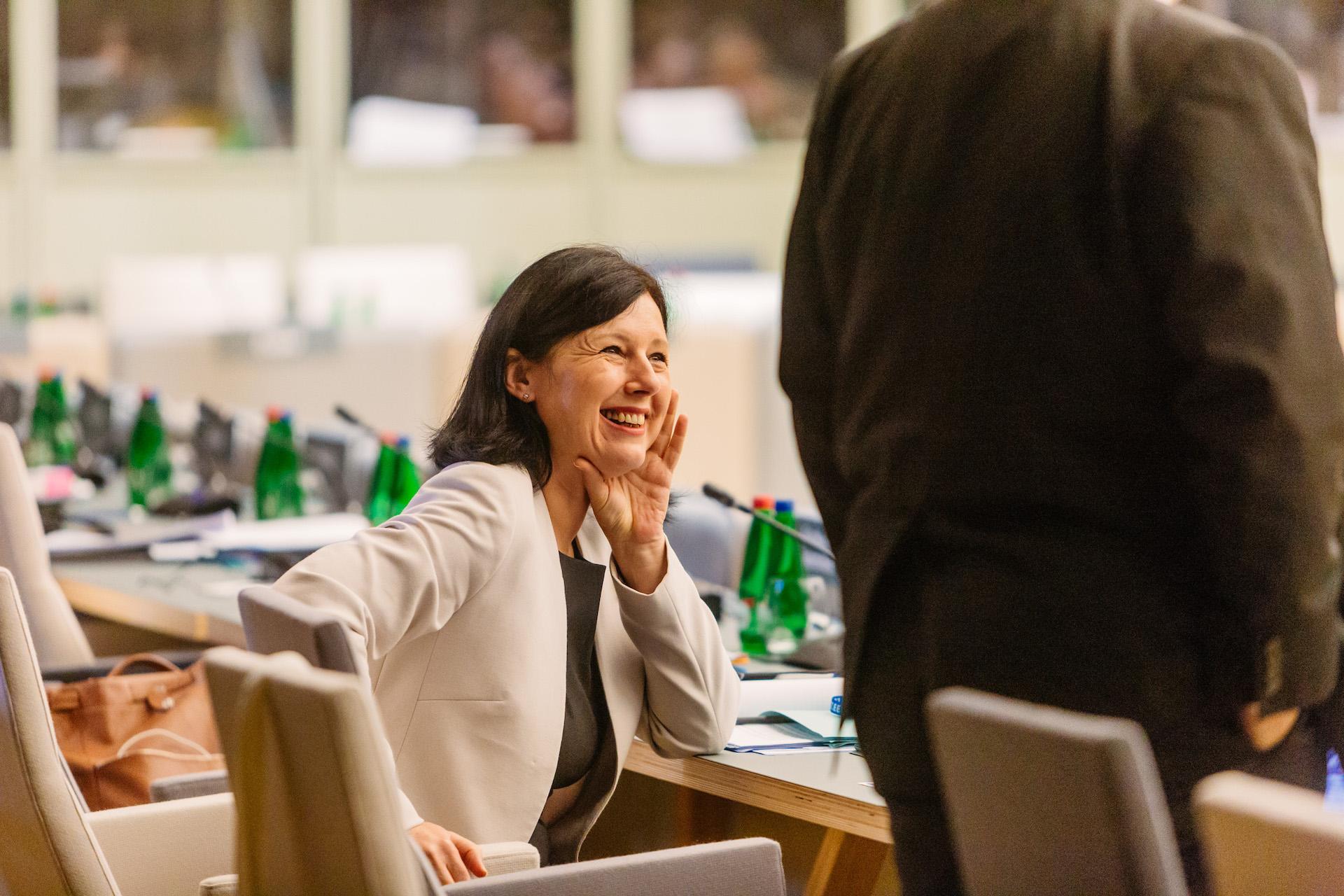 Věra Jourová, komisařka pro spravedlnost, spotřebitele a rovnost žen a mužů