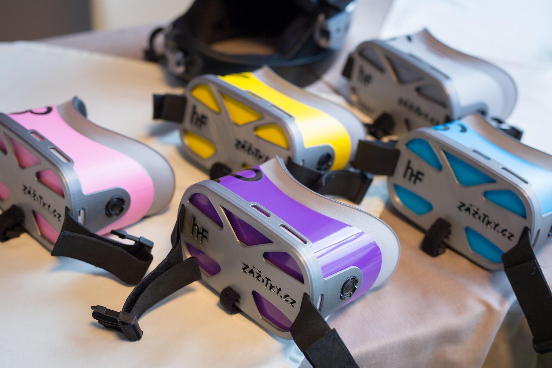 Ve větrném tunelu se využívají VR brýle Oculus Go