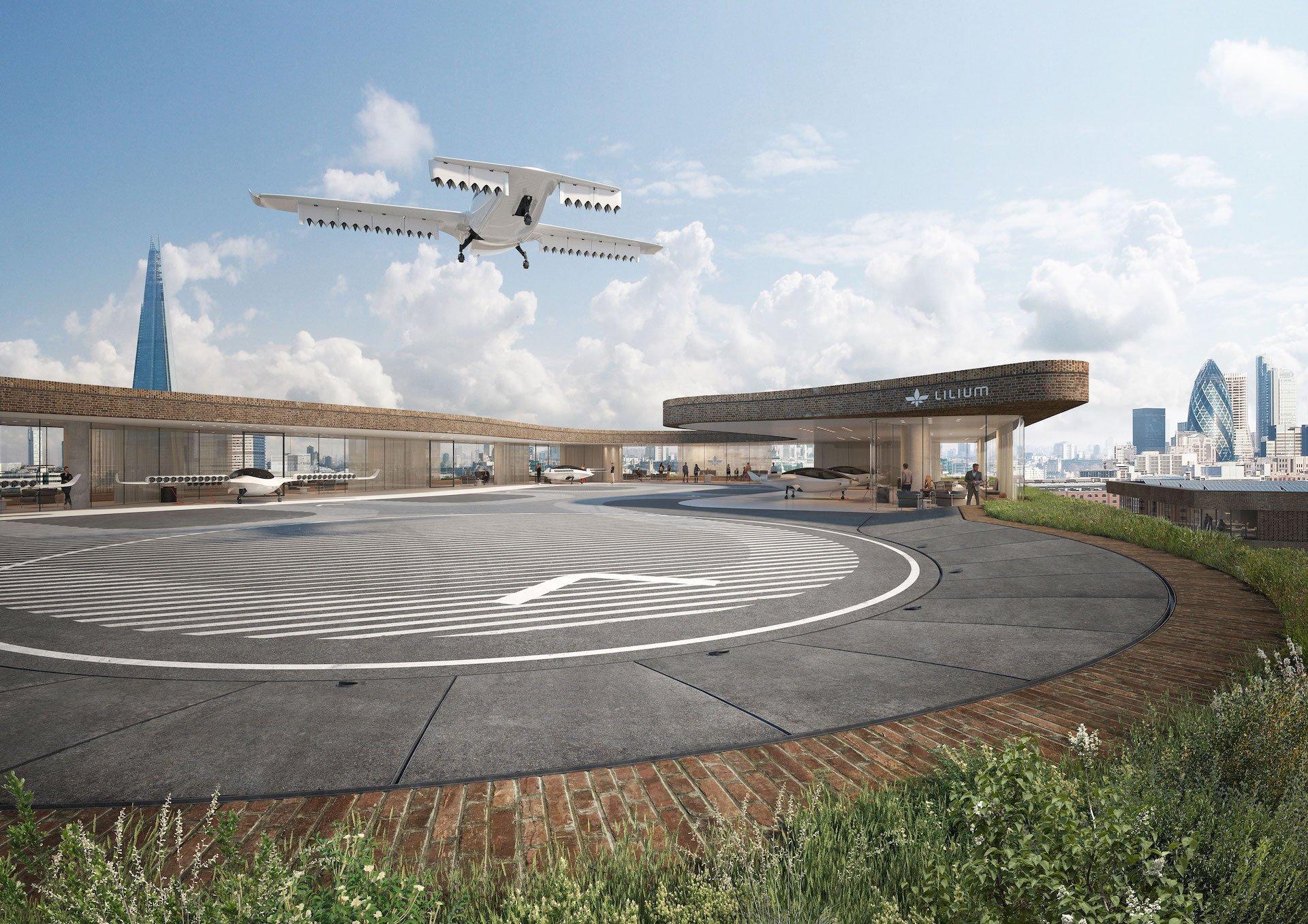 Koncept létajících taxi Lilium