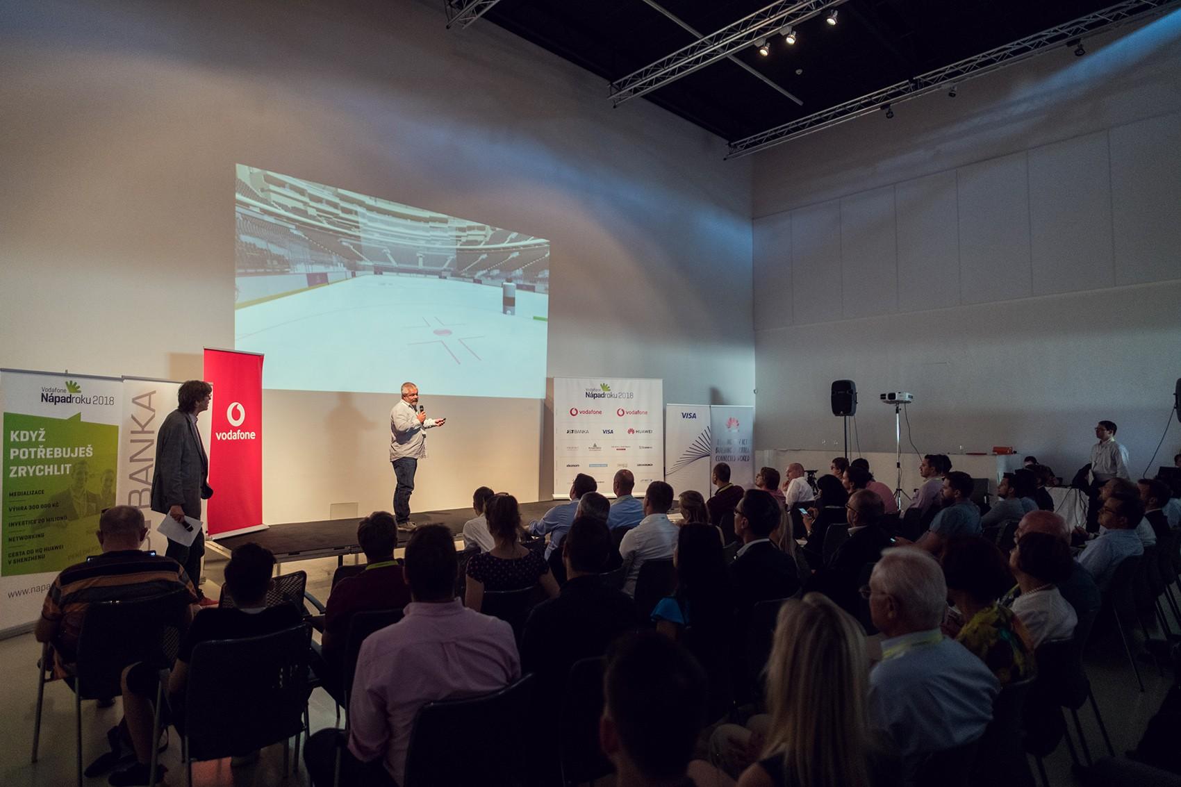 Loňský vítěz SenseArena, který prostřednictvím virtuální reality zlepšuje dovednosti hokejistů