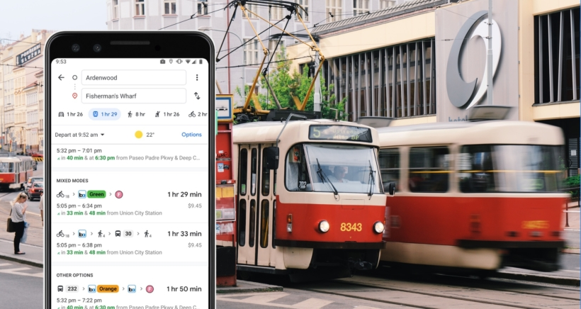 google-mapy-multimodal-tram