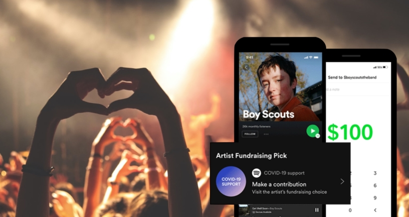 spotify-fundraising
